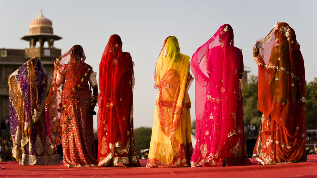 Vestido hindu de mujer